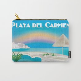 Playa del Carmen, Mexico - Skyline Illustration by Loose Petals Carry-All Pouch