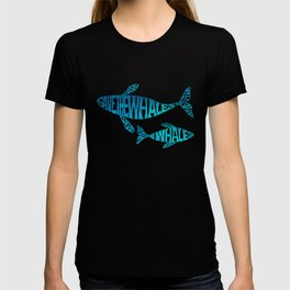 Save the Whales, Aqua blue T-shirt