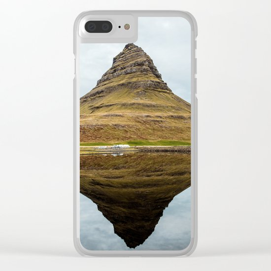 Mountain reflect Clear iPhone Case