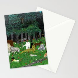 African American Masterpiece 'Holy Mountain III' by Horace Pippin Stationery Cards