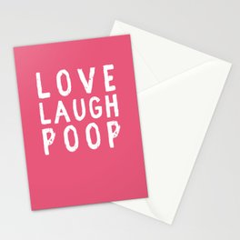 Love Laugh Poop Stationery Cards