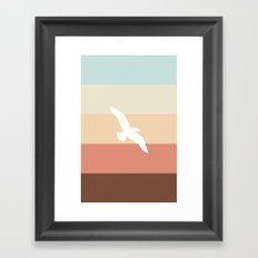 Out At Sea Series - Sun, Sand and Seagulls Framed Art Print