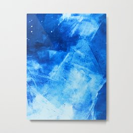Sweater Weather: a pretty, minimal abstract piece in blues by Alyssa Hamilton Art Metal Print