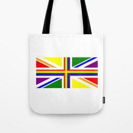 UK Gay Pride Union Jack Flag Tote Bag