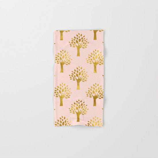 Pink Gold Foil 02 Hand & Bath Towel