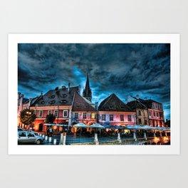 Dreamy scapes - Sibiu, Romania Art Print