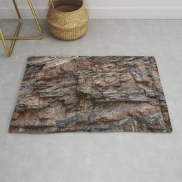 Royal Gorge Rock Formation Texture Rug