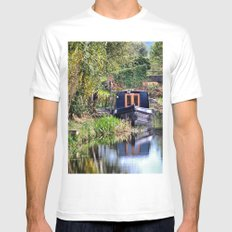 The  Mooring White Mens Fitted Tee MEDIUM