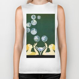 "1920's Art Deco Design ""Bubbles"" Biker Tank"