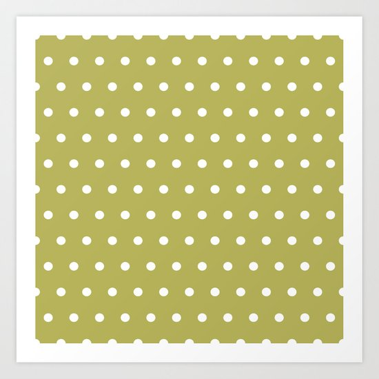 Green Dotted Art Print