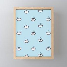 Eye Fall Framed Mini Art Print
