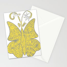 Surreal butterfly in pantone 2021 colors Stationery Cards