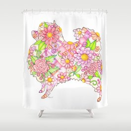 Pink Pomeranian Shower Curtain