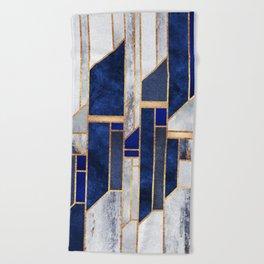 Blue Winter Sky Beach Towel
