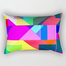 Palm Glitches Painting Rectangular Pillow
