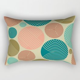 Retro Striped Pattern 11 Rectangular Pillow