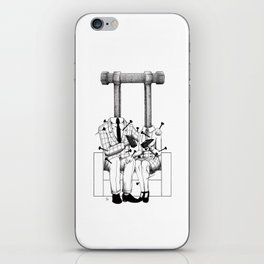 Love (one hand to caress and the other one to hurt) iPhone Skin