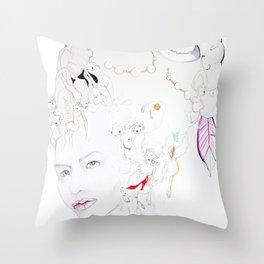 Marie Antoniette Throw Pillow