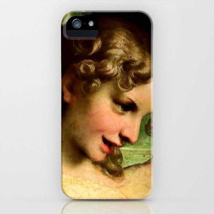 "Antonio Allegri da Correggio ""Madonna of St. Jerome""(detail) Angel iPhone Case"