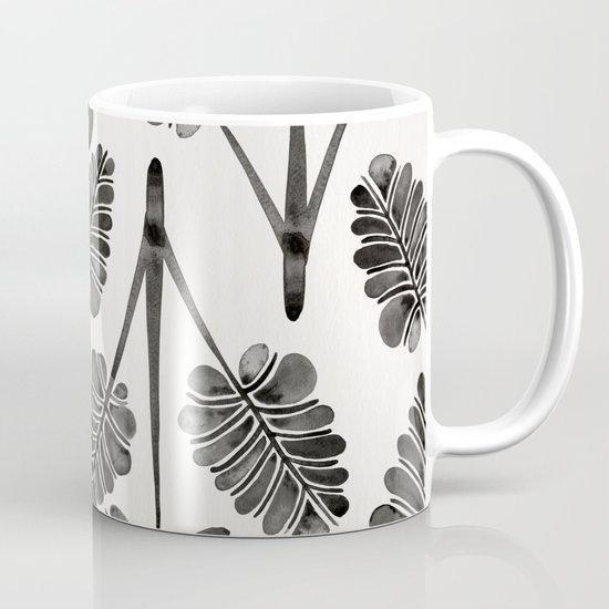 Tropical Palm Leaf Trifecta – Black Palette Coffee Mug