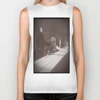 """cafe Biker Tanks featuring """"Cafe Only"""" by Caitlyn Cold"""