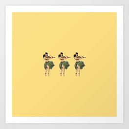 Hula Girls Hula Girl Dancing the Hula - Sand Art Print