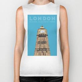London Big Ben Travel Poster Biker Tank
