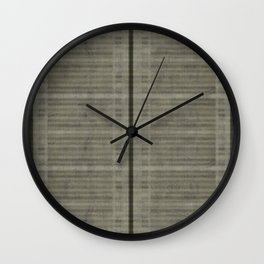 """Simple Oriental Curtains (Light grey)"" Wall Clock"