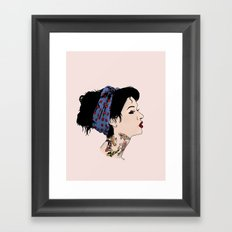 Koï Lady Framed Art Print
