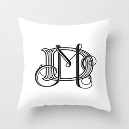monogram DM Throw Pillow