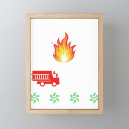 Firefighter Fireman Ugly Christmas Sweater Funny X-mas Gift Framed Mini Art Print