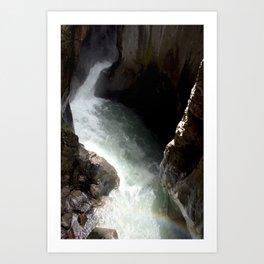Rainbow at Box Canyon Falls Art Print