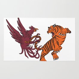 Cocks vs Tigers Rug