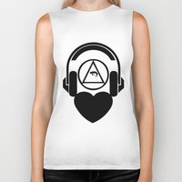 code Biker Tanks featuring CODE by LoveArtMusic®