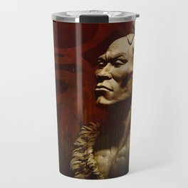 First Peoples Power - Woodland -red Travel Mug