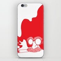 marx iPhone & iPod Skins featuring Groucho Marx by Stephanie Keir
