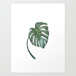 Monstera The One Art Print