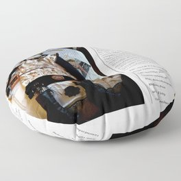 My Life Is Like A Collage / Art Stories Floor Pillow