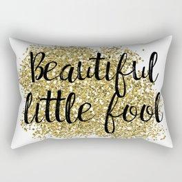 Beautiful little fool - golden jazz Rectangular Pillow