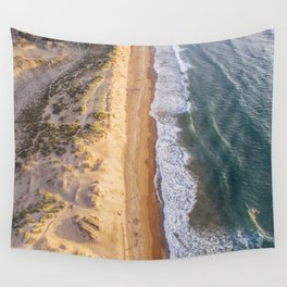 Beach at sunset Wall Tapestry