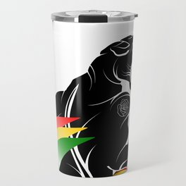 Panther Rastafarian Flag Travel Mug