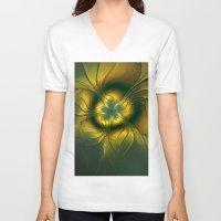 golden V-neck T-shirts featuring Golden by gabiw Art