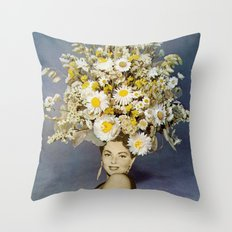 Floral Fashions Throw Pillow