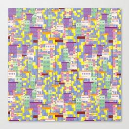 Building Pixel Blocks Canvas Print