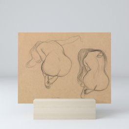 Two Studies of a Seated Nude with Long Hair Mini Art Print