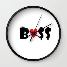 Boss (white) Wall Clock