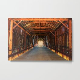Into the Light Honey Run Bridge Metal Print