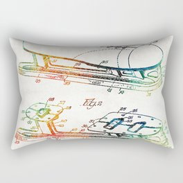 Ice Skate Patent - Sharon Cummings Rectangular Pillow
