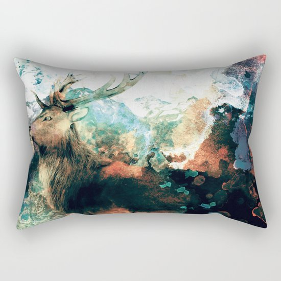 Watercolor Deer Rectangular Pillow