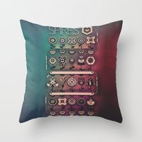 spires Throw Pillows featuring SPIRES IRRIGATION (2014) by Spires